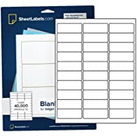 "Mailing Address Labels from SheetLabels.com, 1"" x 2-5/8"", Laser or Inkjet Printable, 30-Up FBA Labels, Easy to Peel, 750 Labels - 25 Sheets"