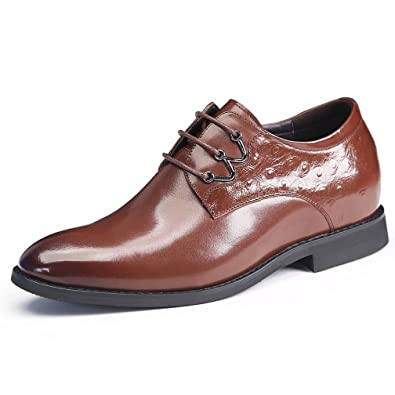 48859d3a12b7d Amazon.com | Men's Cow Leather Dress Oxfords Height Increasing ...