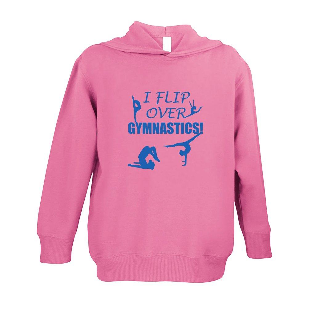 Cute Rascals I Flip Over Gymnastics! Toddler Pullover 100% Fleece Hoodie Hot Pink 4T BHPULSPORX118_HP4T