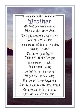 Beerdigung Karte.Grabkarte Zu Brother Gedenkkarte Beerdigung Gedicht Trauer Wählen