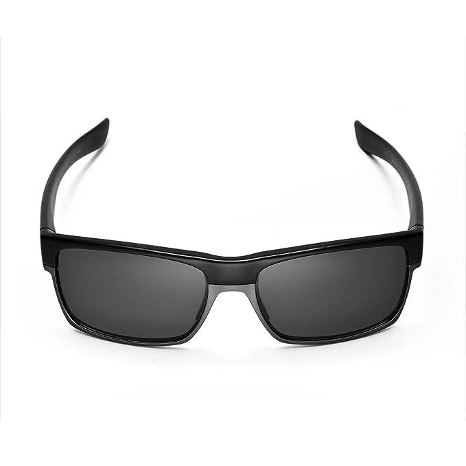 walleva polarizadas titanio + negro lentes de repuesto para Oakley ...