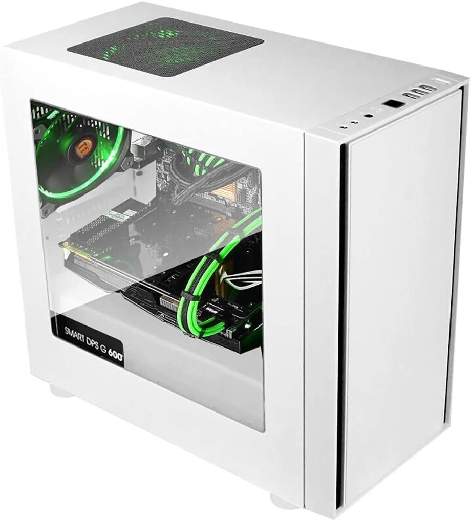 Color : Black Mid-Tower ATX 9 Cooling Fan Systems Tempered Glass Display Mini-ITX Support Water-Cooled XZ15 Computer case M-ATX