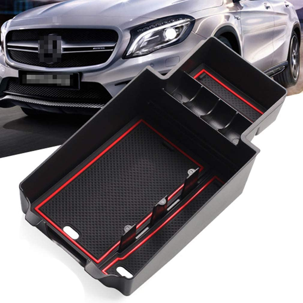 Center Console Organizer Tray Compatible with Mercedes Benz A-Class B-Class GLA CLA A180 A200 A250 A260 B180 B200 GLA200 GLA220 GLA250 Storage Box Coin and Phone Holder Tray Armrest Box Storage