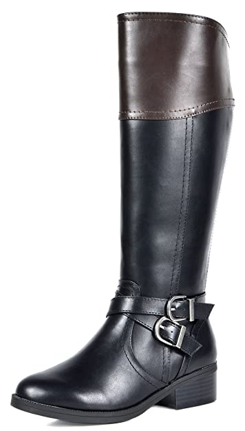 great discount for Clearance sale preview of TOETOS Women's Knee High Riding Boots Wide Calf