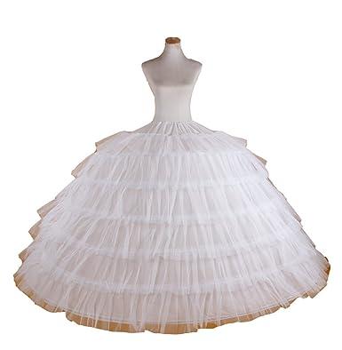 Amazon.com: White Super Big 6-hoop Wedding Bridal Prom Petticoat ...