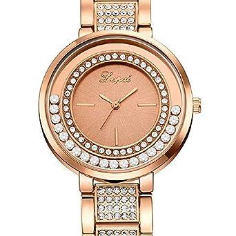 Scpink Mujeres Relojes de Cuarzo, Relojes de Damas de liquidación Crystal Rhinestones Puede Mover Relojes