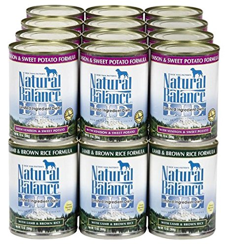 Natural Balance LID Lamb & Venison Wet Food Bundle - 24x13oz