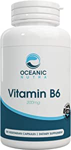 Vitamin B6 Easy to Swallow Capsules for Metabolism Booster for Weightloss and Improve Digestive Health100 Veggie Caps