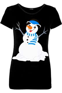 d1f2847f Be Jealous Womens Funny Boobs Crew Neck Christmas Pudding Printed ...