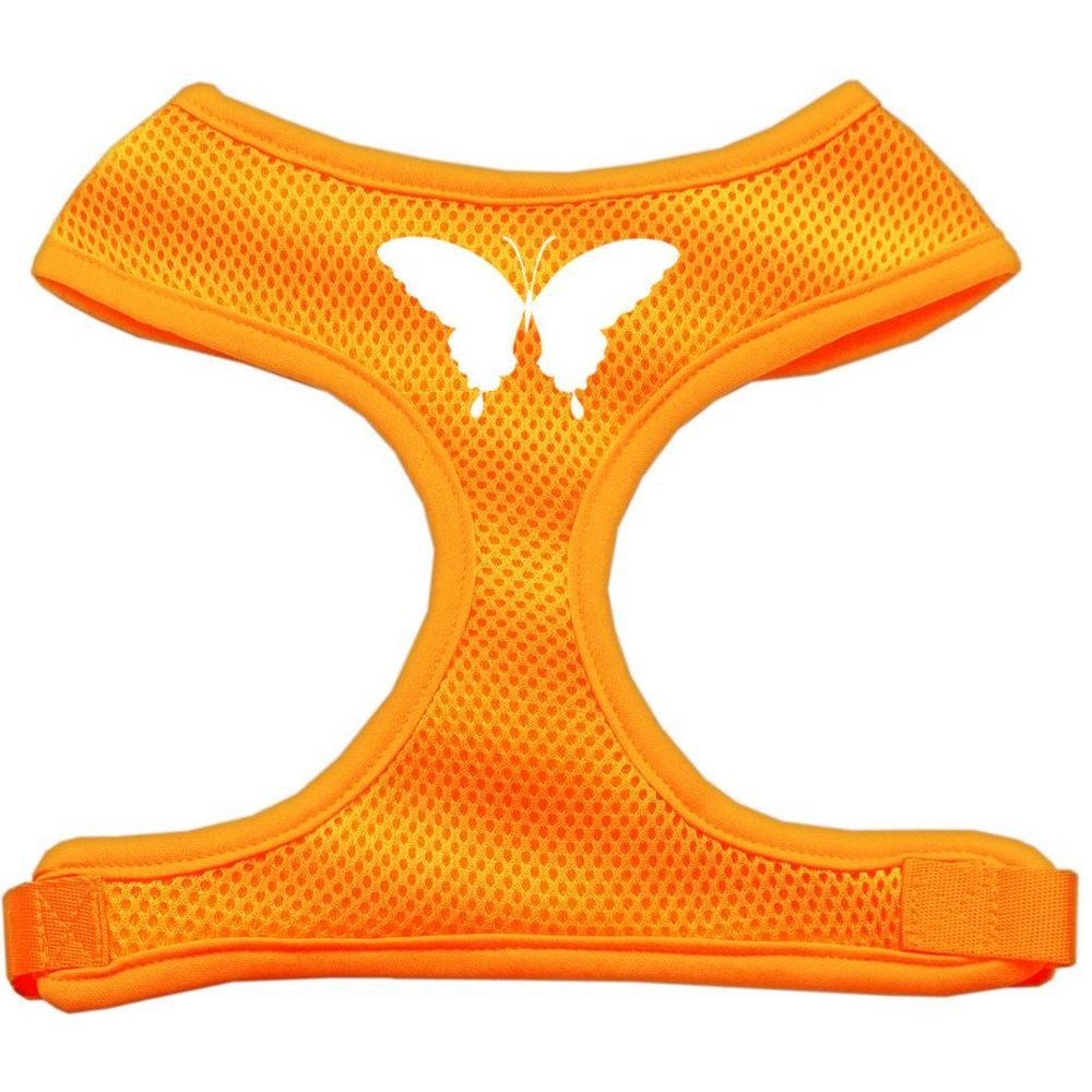 Mirage Pet Products Butterfly Design Soft Mesh Dog Harnesses, Small, orange