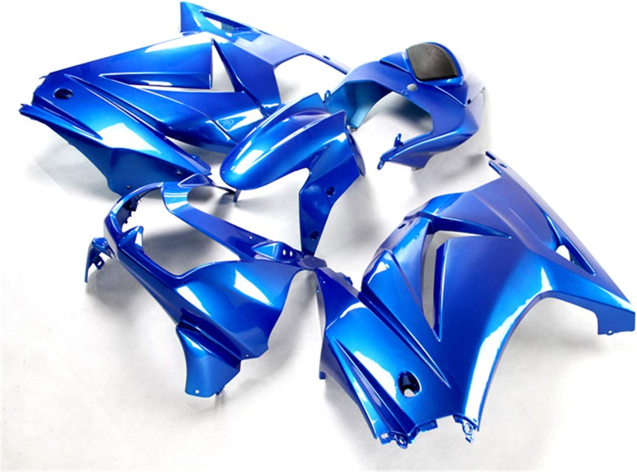NT FAIRING Glossy Blue Fairing Fit for KAWASAKI NINJA 2008-2012 EX250 250R New Injection Mold ABS Plastics Bodywork Body Kit Bodyframe Body Work 2009 2010 2011 08 09 10 11 12