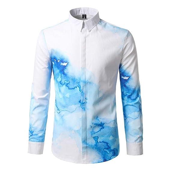 Mfasica Mens Turn Down Collar Short Sleeve Solid Color Silm Fit Longshirt