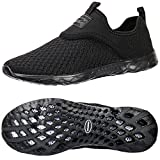 Best Mens Water Shoes - ALEADER Men's Slip-on Athletic Water Shoes Black/Blk 9.5 Review