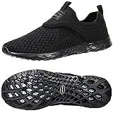 ALEADER Men's Slip-on Athletic Water Shoes Black/Blk 9.5 D(M) US