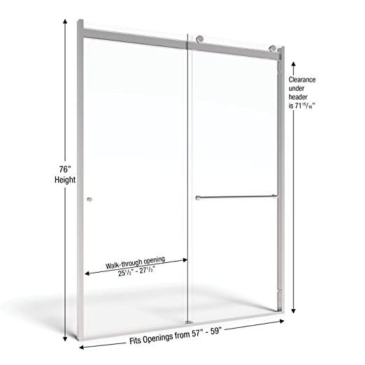 Basco Rotolo Sliding Shower Door AquaGlideXP Clear Glass Chrome Finish (57 to 59-Inch) - - Amazon.com  sc 1 st  Amazon.com & Basco Rotolo Sliding Shower Door AquaGlideXP Clear Glass Chrome ...