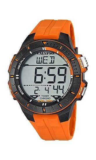 dc51d60c496e Calypso watches K5607 1 - Reloj Hombre Naranja Sumergible
