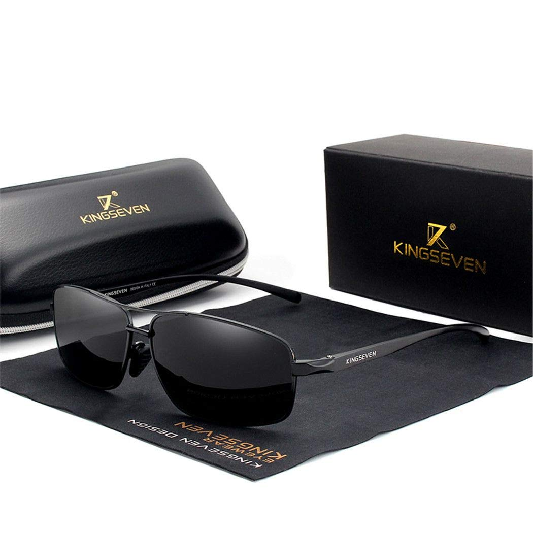 Vintage Retro Men Polarized Sunglasses Square Classic Men Shades Sun glasses black gray