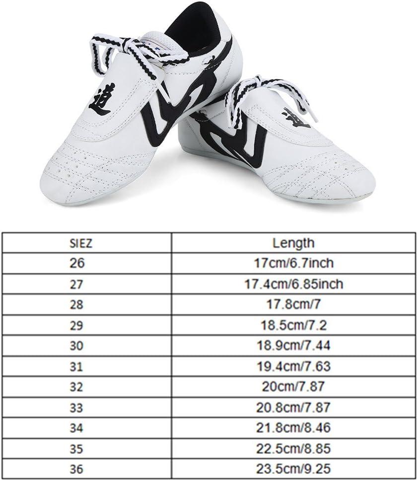 B.E.S.T Unisex Taekwondo Shoes Children TKD Shoes Men TKD Shoes Kids Taekwondo Shoes Size Chart in Last Photo