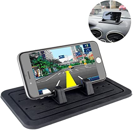Vansky Silicone Anti-Slip Hands Free Desk Phone Stand Car Phone Mount Compatible with iPhone 11 XR Samsung Huawei Smartphone GPS Car Phone Holder