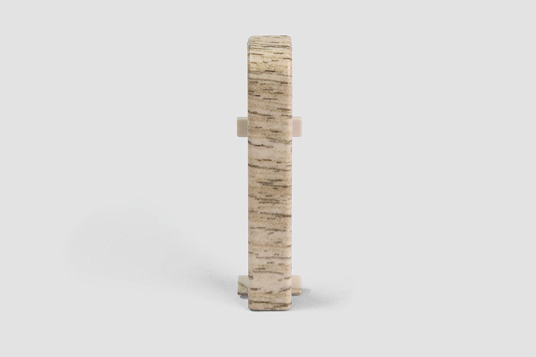 Inhalt 2 St/ück Holz Optik hell braun Kunststoff robust EGGER Au/ßenecke Sockelleiste Eiche mittelbraun f/ür einfache Montage von 60mm Laminat Fu/ßleisten