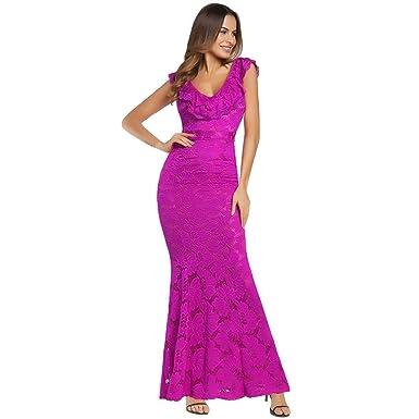 Damen Kleider,Beikoard Frauen Kleid Langarm Floral Muster Lace ...