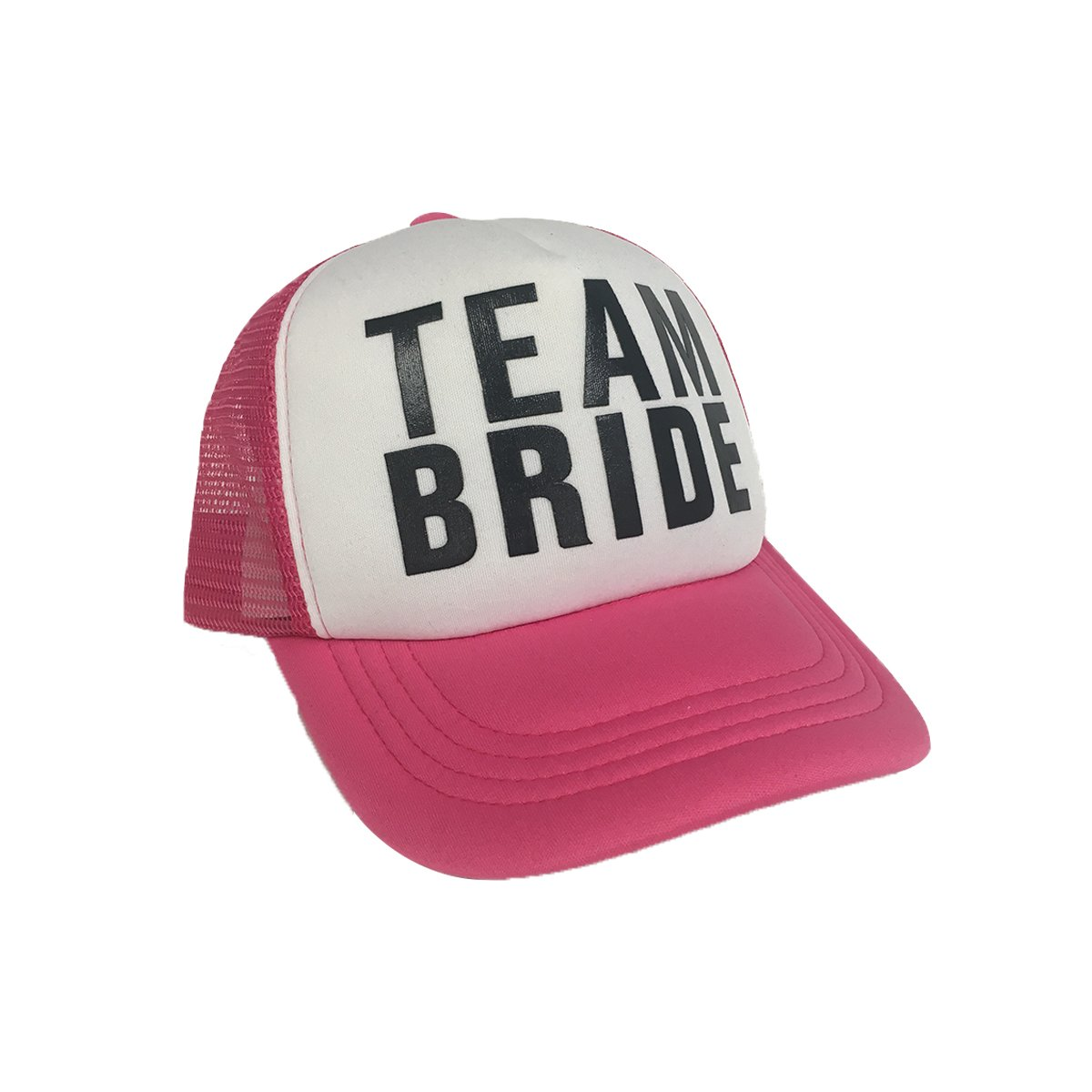 MyPartyShirt Team Bride Pink Trucker Hat Bachelorette Party Cap Wedding Neon Bridal Hen Do