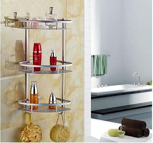 Triangular Shower Corner Caddy Shelf Bathroom Rack Bath Storage Holder w// Screws