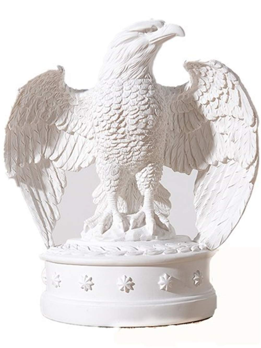 Flying Eagle Sculpture Statue Craft Home Model Home Table Decoration Geometric Resin Wildlife Eagle Statue Crafts (White)