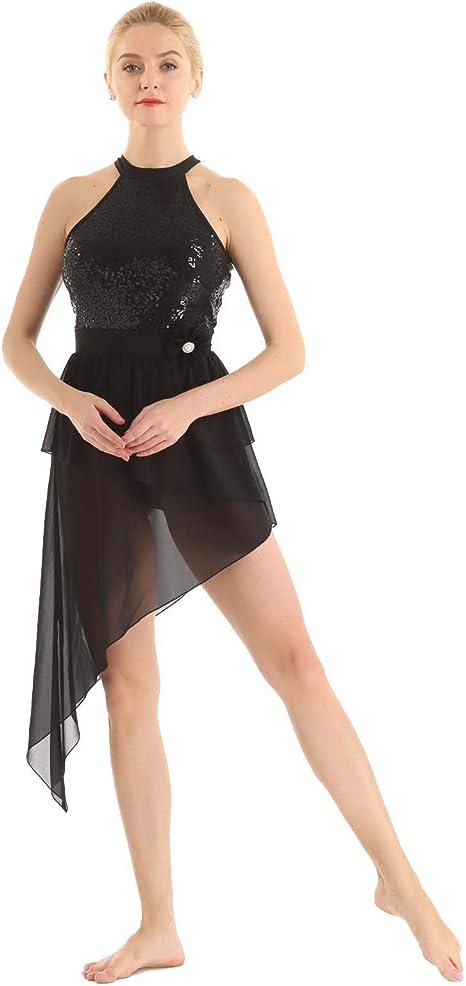 MSemis Vestido de Baile Latino para Mujer Chica Maillot Danza ...