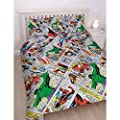 "Marvel Comics Retro ""Reversible"" UK King/US Queen Duvet Cover with Matching Pillow Case Bedding Set"