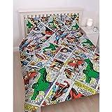 Marvel Comics Retro Reversible Double Duvet Cover Matching Pillow Case Bedding Set