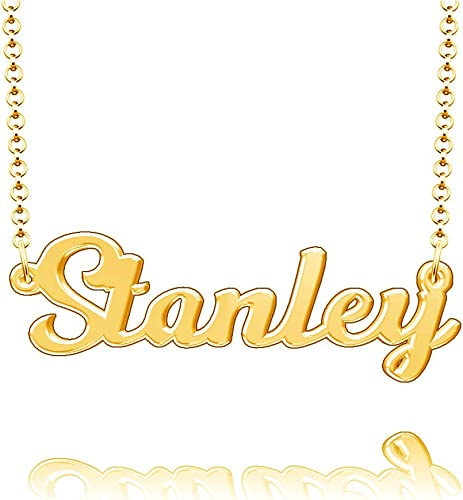 LoEnMe Jewelry Customized Hall Name Necklace Stainless Steel Plated Custom Made of Last Name Gift for Family