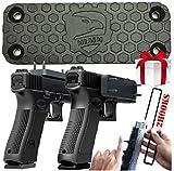 miaim NEW Gun Magnet Mount to Conceal, Display or Carry 75 lbs. [1 Pack] BONUS: 2 Gun Hangers