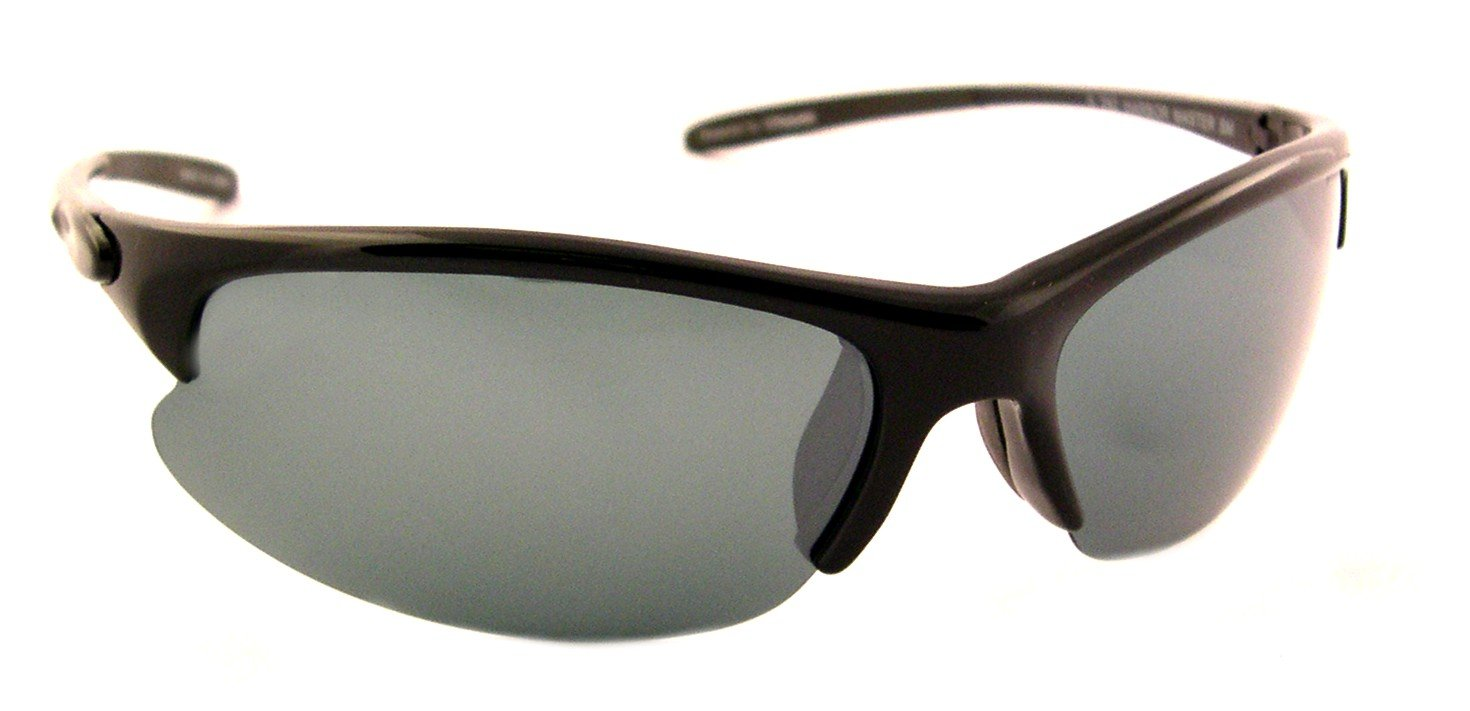 292 3709134 Fits Medium to Large Faces Sea Striker Harbor Master Polarized Sunglasses with Black Frame,Silver Mirror and Grey Lens