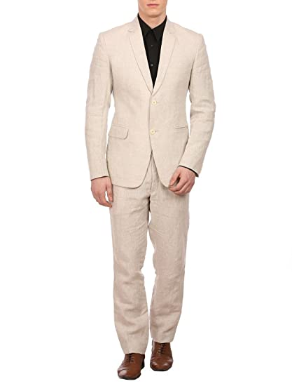 Wintage - Traje - para Hombre Beige Natural M: Amazon.es ...