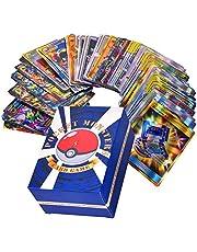 Uppsättning med 120 st Pokémonkort, blandade tecknade spelkort, barn GX samlarkort inklusive 30 st Team Up + 50 st Mega + 20 st trainer cards och 20 st Ultra Beast GX-kort