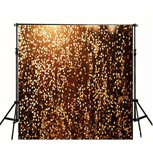 Golden Bokeh Photography Backdrops 5x6.5ft Custom Wedding Backgrounds for Photo Studio Washable Backdrop No Crease yy35 by VV Backdrops