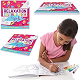 GIFTS FOR GIRLS: Relaxation Coloring Book For Girls: A Zen Coloring Pad For Kids. Great Birthday Gifts Present For Girls 3 4 5 6 7 8 9 years old.