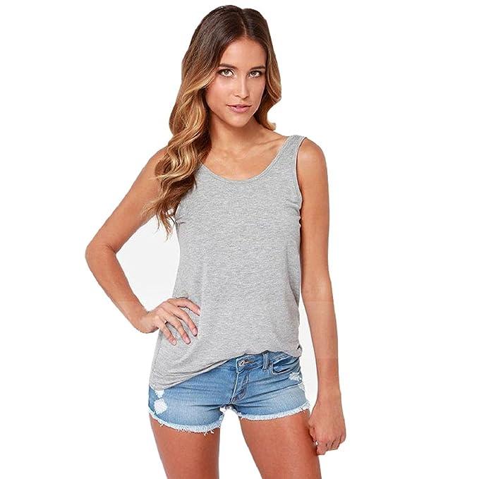 Culater® Mujeres de la moda backless v cuello profundo camisa casual blusa: Amazon.es: Ropa y accesorios