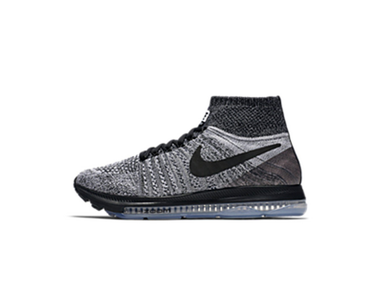 Nike Women's Zoom All Out Flyknit Running Shoes B071WL6223 6.5 B(M) US|Grey/ Black