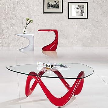 Designetsamaison Table Basse de Salon Rouge - Niagara ...
