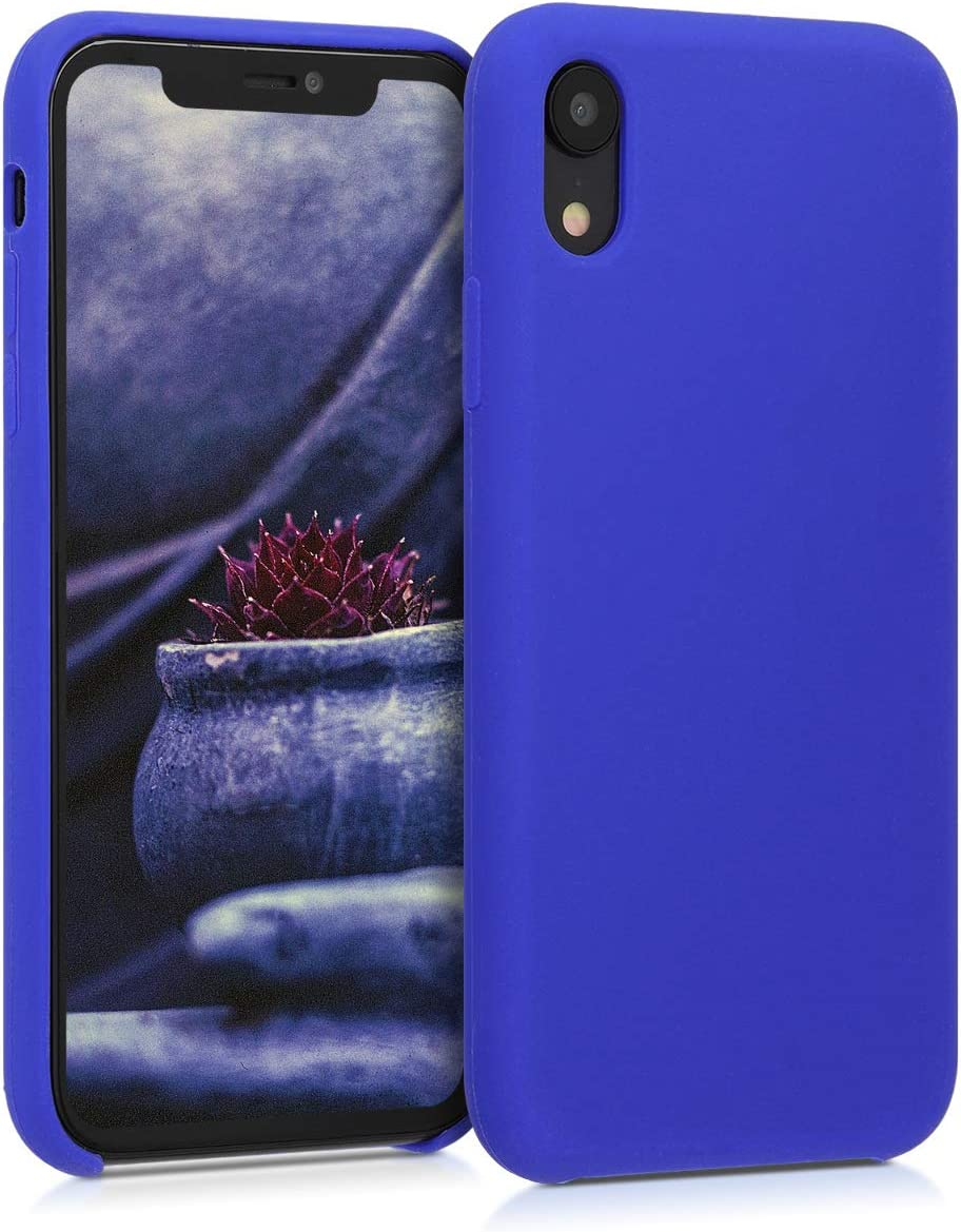 kwmobile TPU Silicone Case Compatible with Apple iPhone XR - Soft Flexible Rubber Protective Cover - Royal Blue