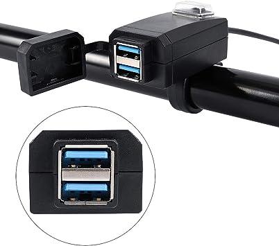 FREESOO Cargador de motocicleta USB Carga rápida QC 3.0 5V / 2.4V ...