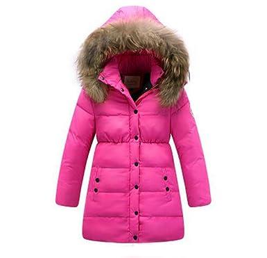 info pour 2ea85 cc61d Ohmais Filles vêtement Hiver Down Jacket manteau épaissie veste de fille  parka épaissie Trenchcoat blouson avec capuche