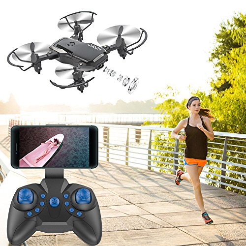 Price comparison product image US Fast Shipment Tuscom Mini D2WH Foldable 6-Axis RC Quadcopter Drone Toys / 0.3MP HD Camera, WiFi FPV, 2.4G 6-AxisDrone / for Photos Record Great Memory (3 Colors) (Black)