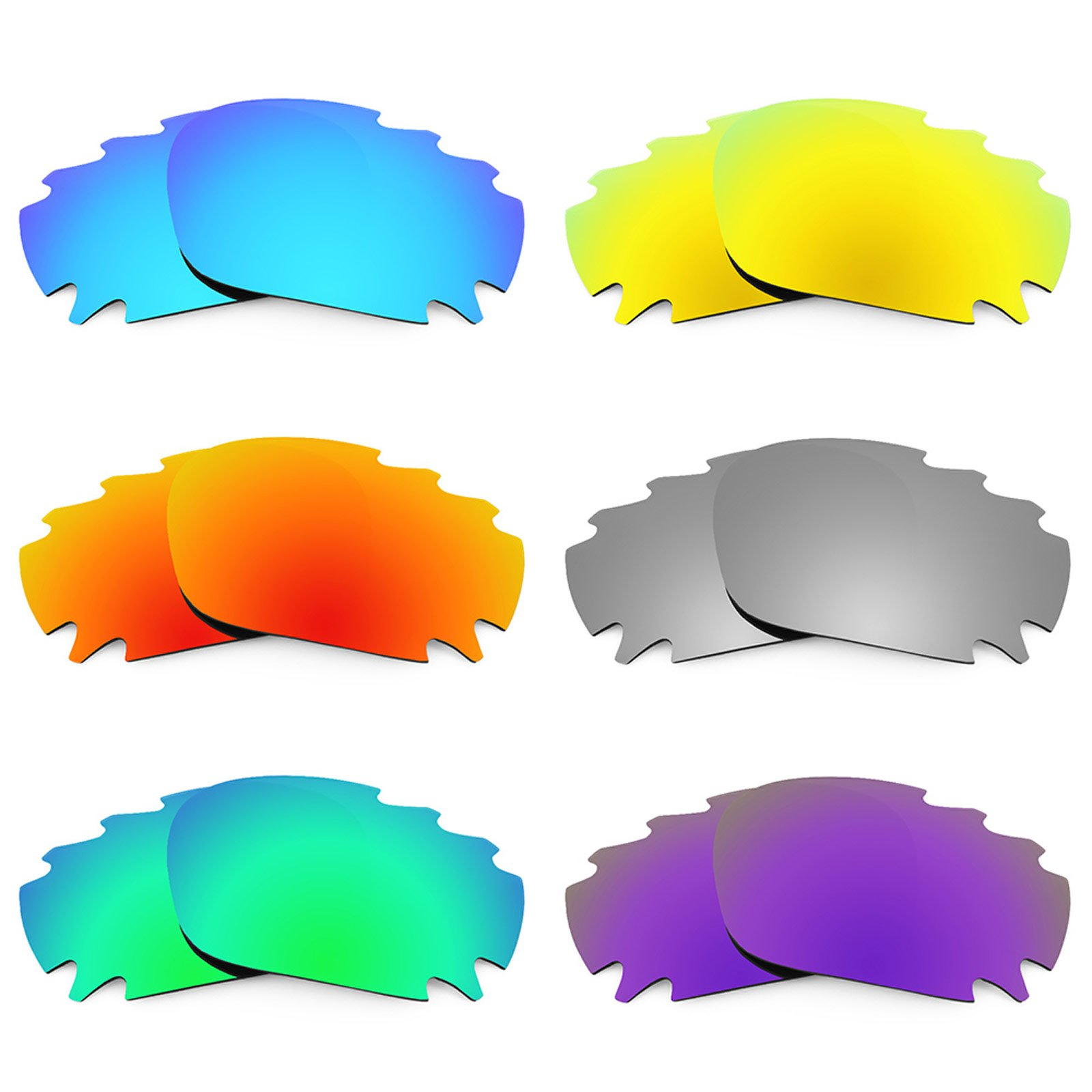 Revant Vented Replacement Lenses for Oakley Jawbone 6 Pair Combo Pack K027 by Revant