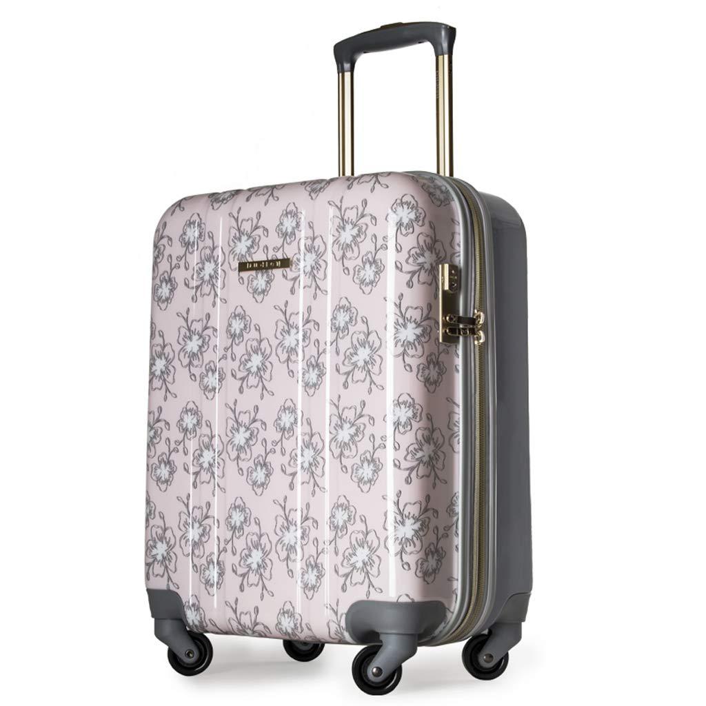 OTLLE 小型 フレッシュで可愛い レディース 20インチ/ 24インチ スーツケース 小型 キャスター トロリー ケース メス 20inch ピンク L6954767 20inch ピンク B07KZW3QK9