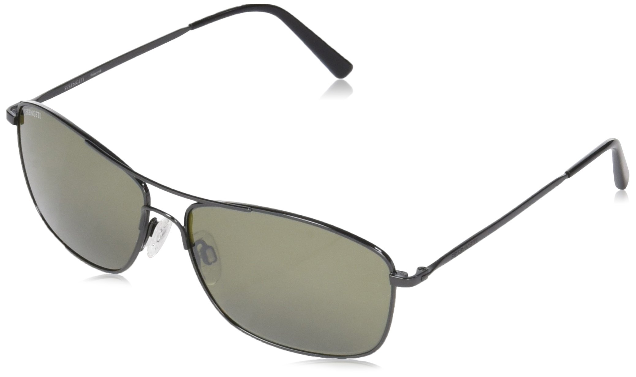 Serengeti Corleone Sunglasses Shiny Gunmetal, Green
