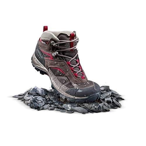 8dfd299a8ff Quechua MH 100 Mid Women s Waterproof Mountain Hiking Shoes - Brown (EU ...