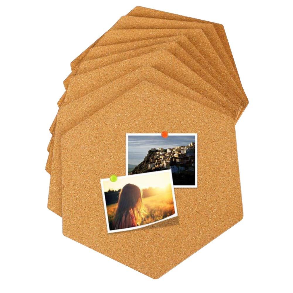 Bulletin Board, Pin Board, Cork Tiles, Hexagon Cork Board, Memo Boards Message Board, Photo Background,Wall Decor for Office/Home/Kitchen/Dorm Room(12pcs) by DYEY